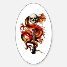 Red Dragon Skull Decal
