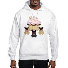 Pug Dog Cupcakes Jumper Hoody
