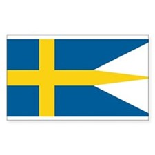 Sweden Naval Ensign Rectangle Decal