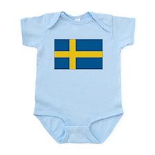 Sweden Flag Infant Creeper