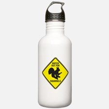 Watch Out For Squirrels Water Bottle