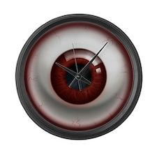 The Eye: Red, Dark Large Wall Clock