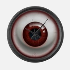 The Eye: Red, Dark Large Wall Clock
