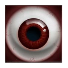 The Eye: Red, Dark Tile Coaster