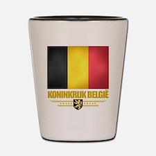 Belgian Flag Shot Glass