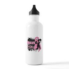 Brave Bitch - Breast Cancer Water Bottle