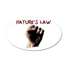 Natures Law 38.5 x 24.5 Oval Wall Peel