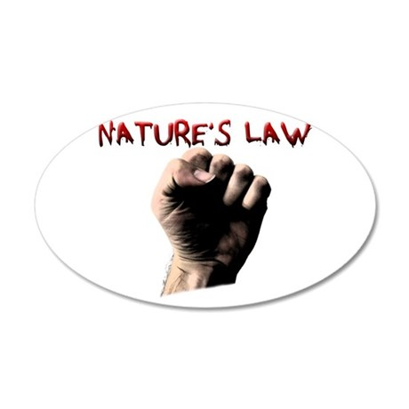 Natures Law 22x14 Oval Wall Peel