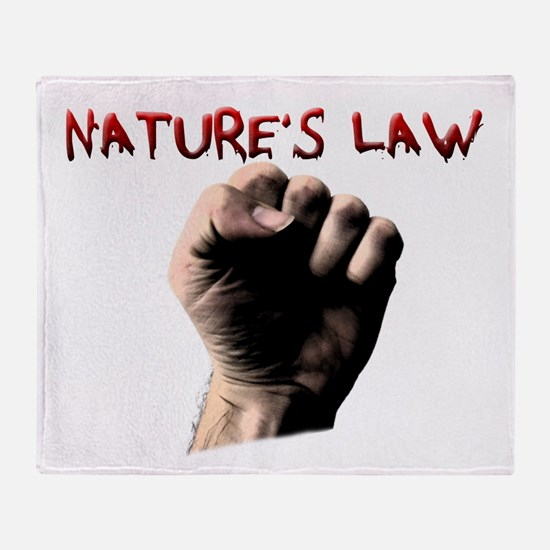 Natures Law Throw Blanket