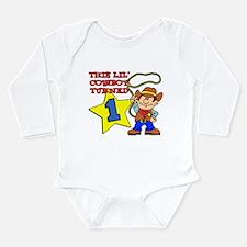 Little Cowboy Turned One Long Sleeve Infant Bodysu