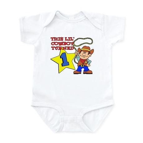 Little Cowboy Turned One Infant Bodysuit