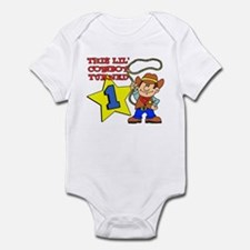 Little Cowboy Turned One Infant Bodysuit