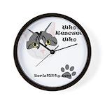 BorisKitty.com Who Rescued Wh Wall Clock