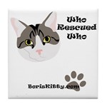 BorisKitty.com Tile Coaster