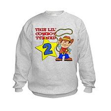 Little Cowboy Turned Two Sweatshirt