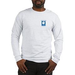 GT CERT Long Sleeve T-Shirt Grey & print on ba