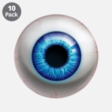"The Eye: Electric 3.5"" Button (10 pack)"