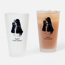 English Cocker Spaniel Drinking Glass