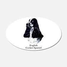 English Cocker Spaniel 22x14 Oval Wall Peel
