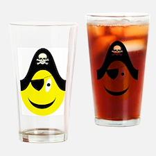 Talk Like A Pirate Yellow Smi Drinking Glass