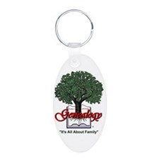 It's All About Family Aluminum Oval Keychain