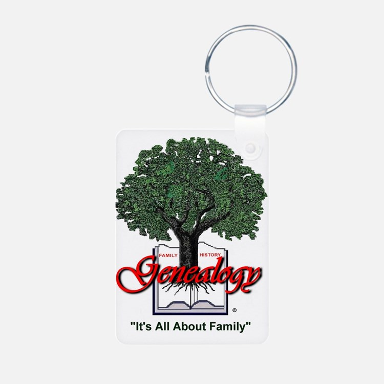 It's All About Family Aluminum Photo Keychain