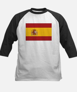 Spain State Flag Kids Baseball Jersey