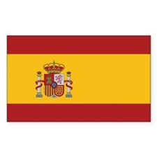 Spain State Flag Rectangle Bumper Stickers