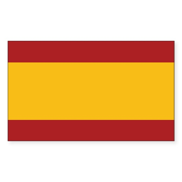 spain flag rectangle decal by flagshirts