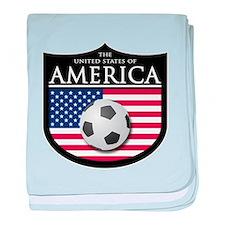 USA (2) Soccer baby blanket