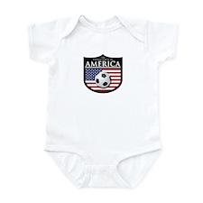 USA (2) Soccer Infant Bodysuit