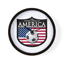 USA (2) Soccer Wall Clock