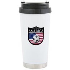 USA (2) Soccer Travel Mug