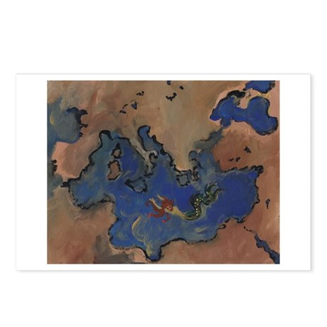 The Greek World Postcards (Package of 8)