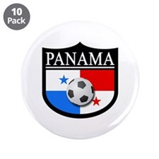 """Panama Patch (Soccer) 3.5"""" Button (10 pack)"""