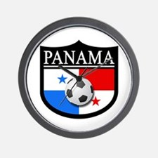 Panama Patch (Soccer) Wall Clock