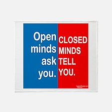 Open Mind Throw Blanket