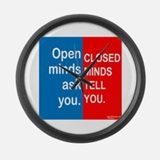 Open Mind Large Wall Clock