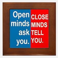 Open Mind Framed Tile