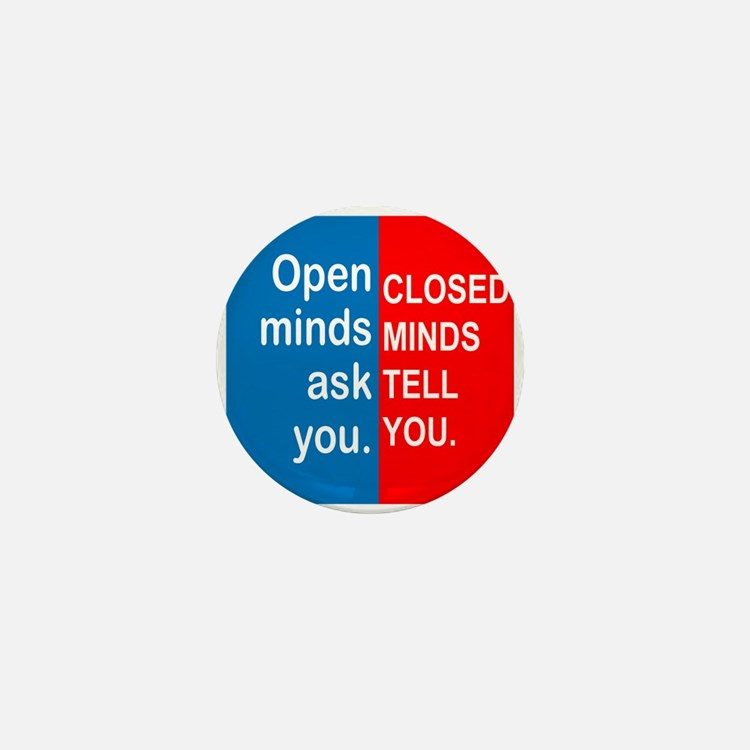 Open Mind Mini Button