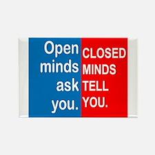 Open Mind Rectangle Magnet