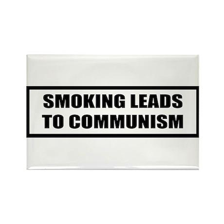 smoking communist Rectangle Magnet (100 pack)