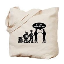 Robot evolution Tote Bag