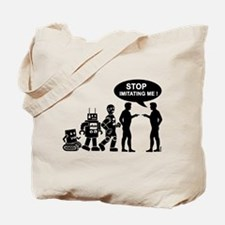 Robot evolution Tote Bag