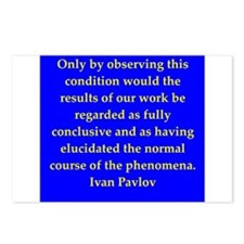 Ivan Pavlov quotes Postcards (Package of 8)