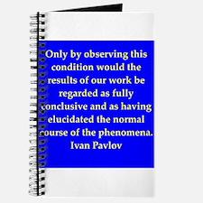 Ivan Pavlov quotes Journal