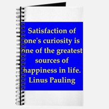 Linus Pauling quotes Journal