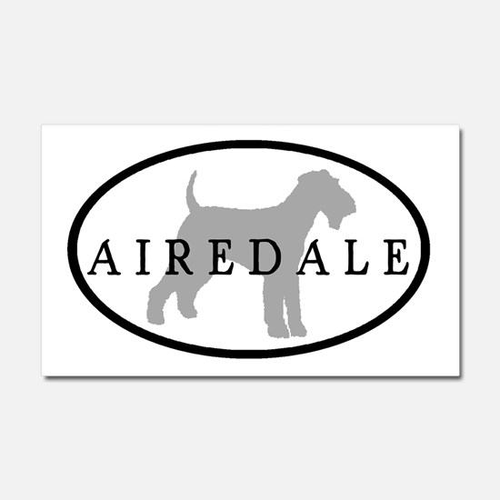 Airedale Terrier Oval #3 Car Magnet 20 x 12