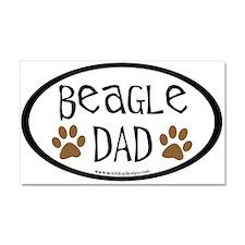Beagle Dad Oval Car Magnet 20 x 12