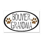 Bouvier Grandma Oval Car Magnet 20 x 12